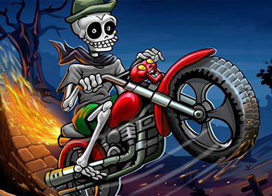 Motociclistul Schelet