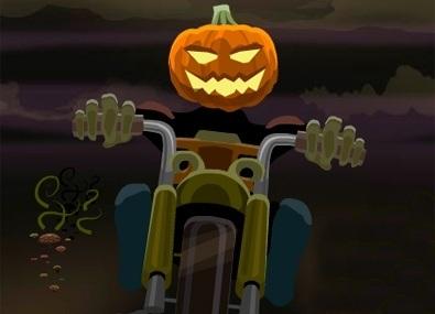 Motociclistul-Cap-de-Dovleac